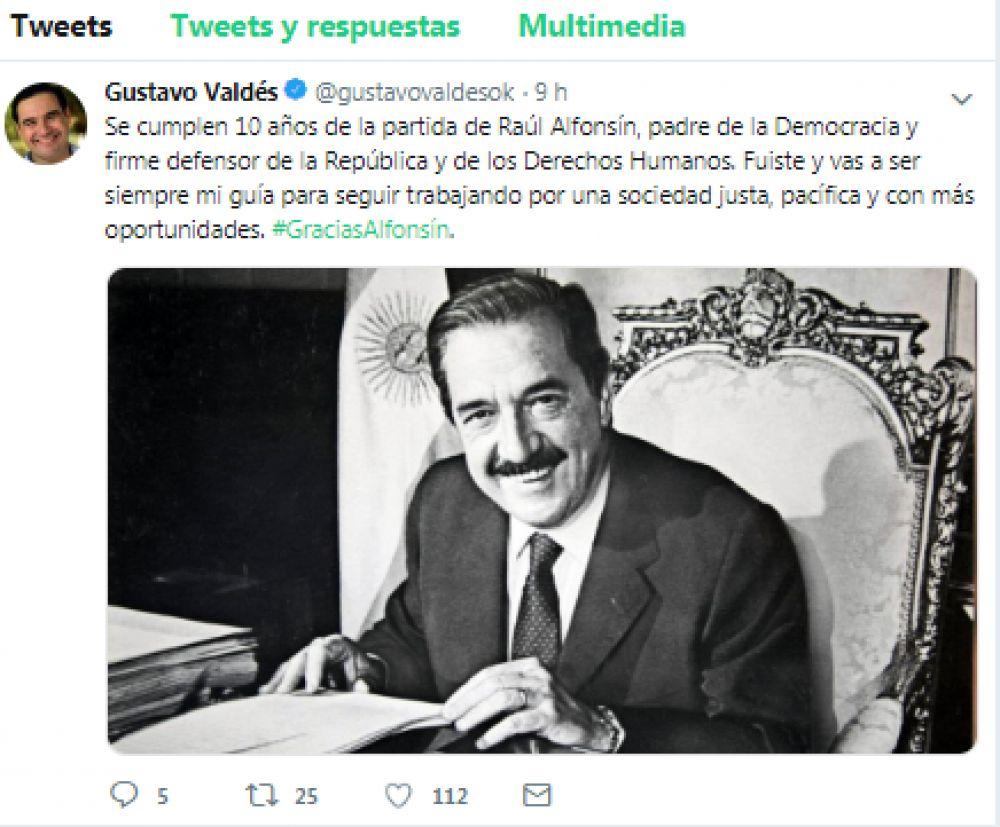 Homenajearon a Raúl Alfonsín a diez años de su muerte